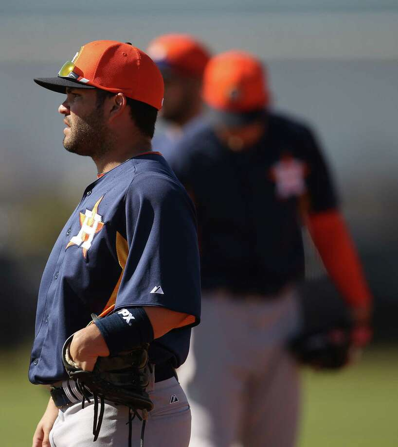 Astros infielder Jose Altuve made the All-Star Game last season while hitting .290 with seven homers and 33 steals. Photo: Karen Warren / Houston Chronicle