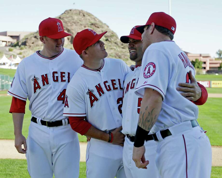 The Los Angeles Angels will boast a lineup with plenty of star - and wall-clearing - power. Photo: Morry Gash, STF / AP
