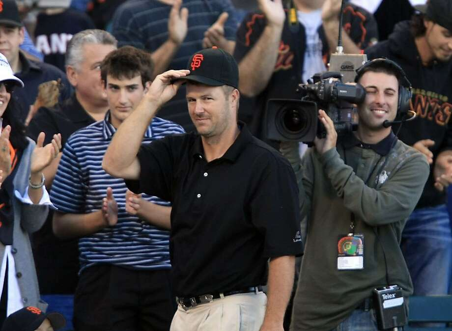 Jeff Kent, former Giant, was honored at at AT&T Park on August 29, 2009. Photo: Frederic Larson, The Chronicle
