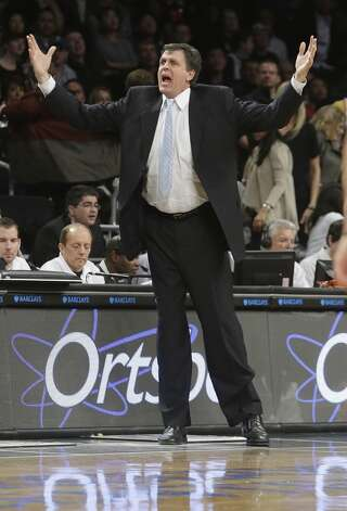 Rockets head coach Kevin McHale reacts to a call.