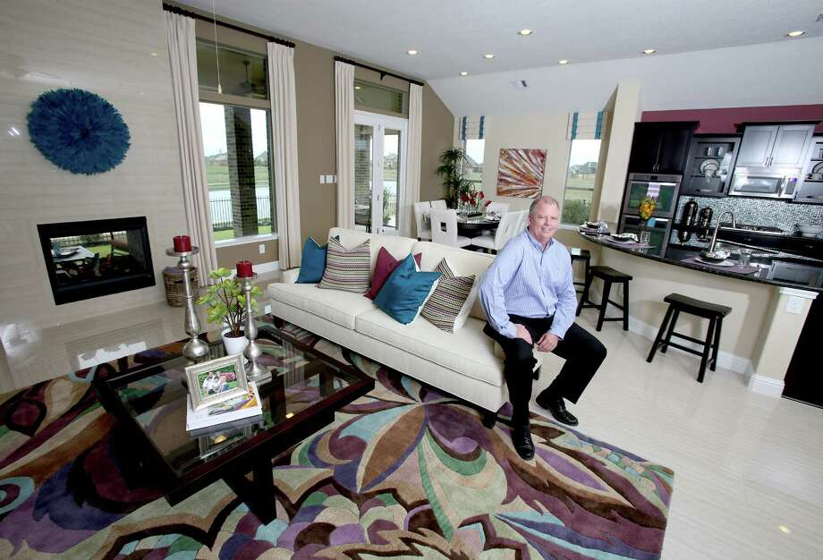 2/20/13: Jim Harrison inside a model one story KB Home located in the Canyon Lake West Estates in Cypress, Texas. Photo: Thomas B. Shea / © 2012 Thomas B. Shea