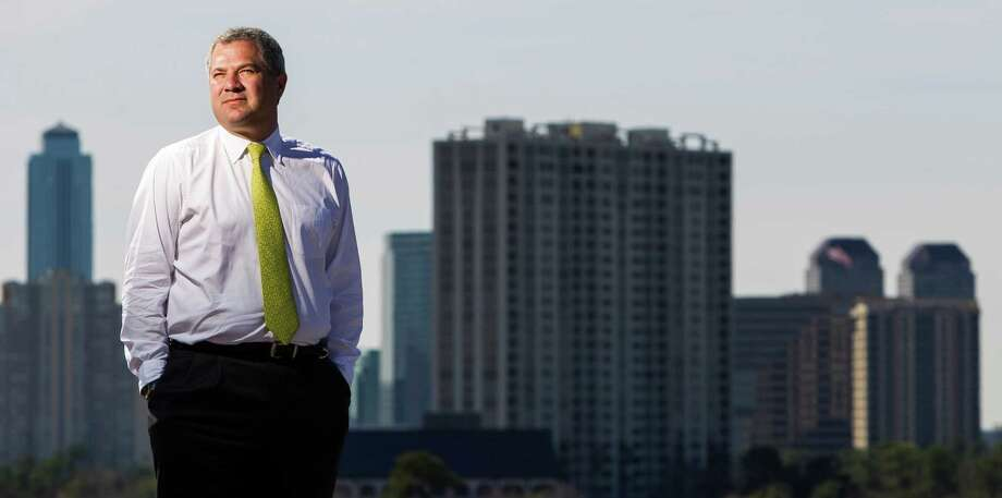 Andrew Segal, president of Boxer property, a company that makes office space easy to rent, stand on his office building on North Post Oak Road, Tuesday, Feb. 19, 2013, in Houston. ( Nick de la Torre / Chronicle ) Photo: Nick De La Torre, Staff / © 2013 Houston Chronicle