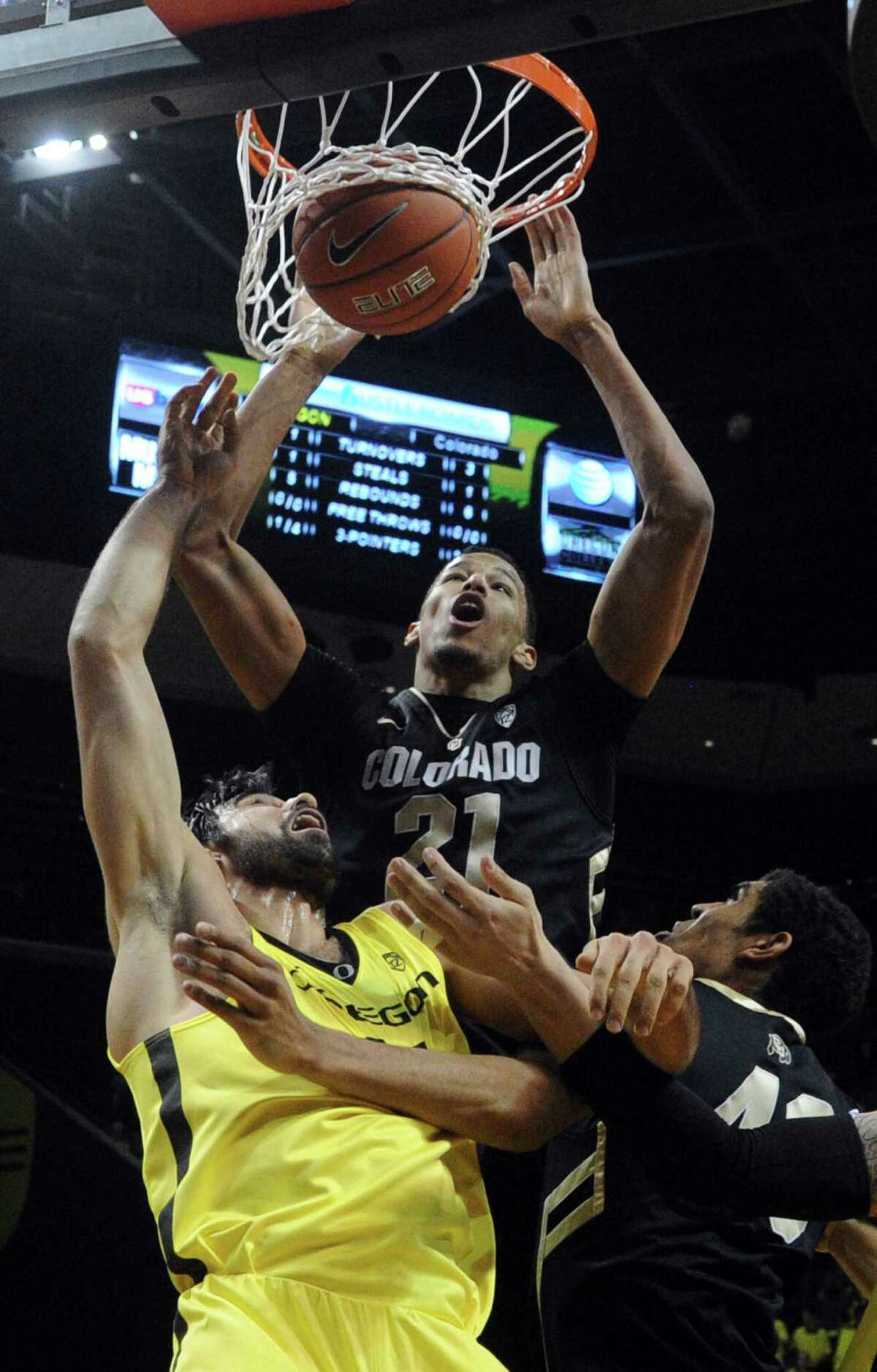 Andre Roberson (21), the son of former New Mexico State standout John Roberson, was lightly recruited by Texas schools coming out of Wagner. NBA scouts, however, seem to be high on the Colorado junior.