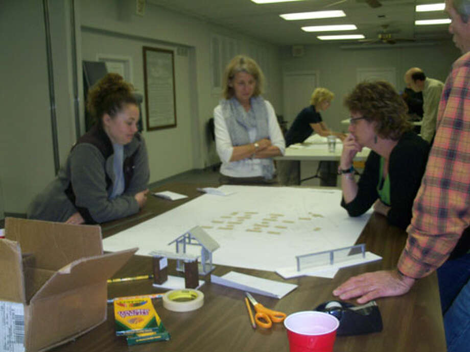 Terrell Heights residents gathered recently to discuss a design for the planned community garden. Courtesy photo