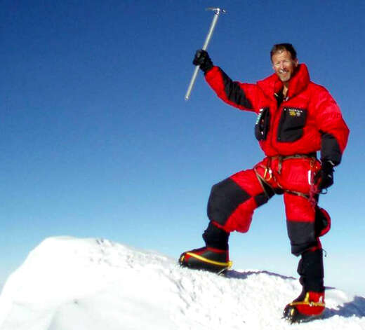 Michael Matty, a graduate of New Milford High School, summits Mt. Vinson in Antarctica, Dec. 3, 2007.  Courtesy of Michael Matty Photo: Norm Cummings