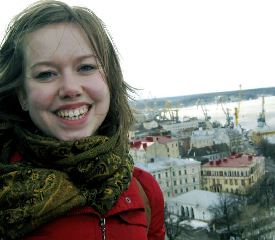 Lauren Woodard, a New Milford High School and Smith College graduate, is photographed during time spent traveling in Russia. She is now a Fulbright Scholar doing research in Kazakhstan. October 2011  Courtesy of Lauren Woodard Photo: Contributed Photo