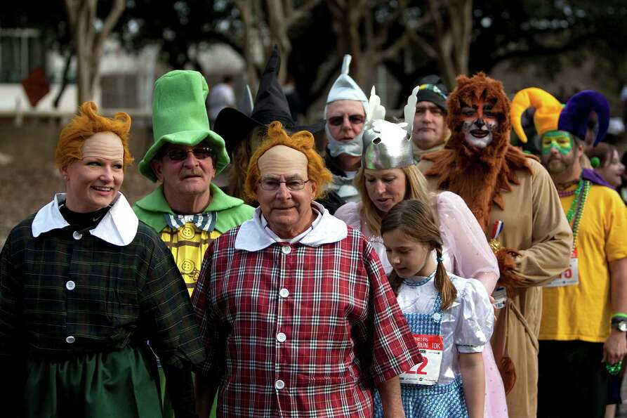 A group dressed as characters from the Wizard of Oz participated in the costume contest before the 2