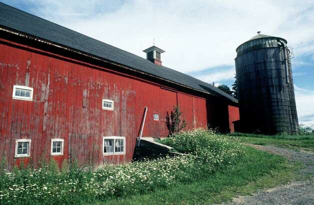 The historic main barn at the Larson Farm along Danbury Road (Route 7 South) in New Milford. 1999 Photo: Norm Cummings, Norm Cummings/Spectrum / The News-Times