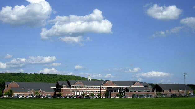New Milford High School as viewed from the west. Photo: Norm Cummings