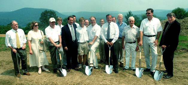 The ceremonial groundbreaking for Bull's Bridge Golf Club on the South Kent/New Milford bouundary on Aug. 14, 2002 Photo: Norm Cummings
