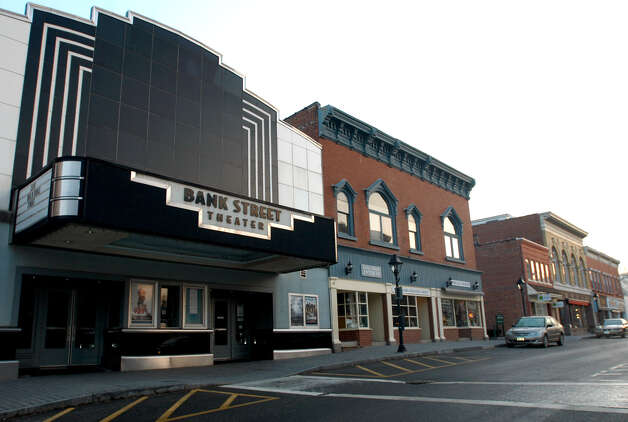 Bank Street Theater in New Milford, looking northeast toward Main Street and the Village Green, March 2007 Photo: Norm Cummings