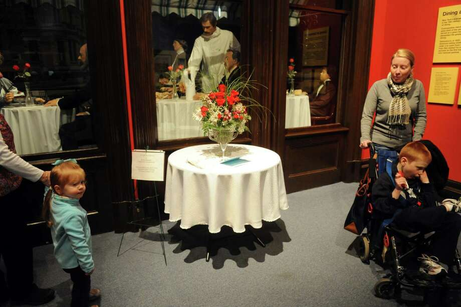 A floral design by Reneta Benenati of the Garden Club of Kinderhook on display during the 22nd Annual New York in Bloom at the New York State Museum on Saturday Feb. 23, 2013 in Albany, N.Y. (Michael P. Farrell/Times Union) Photo: Michael P. Farrell