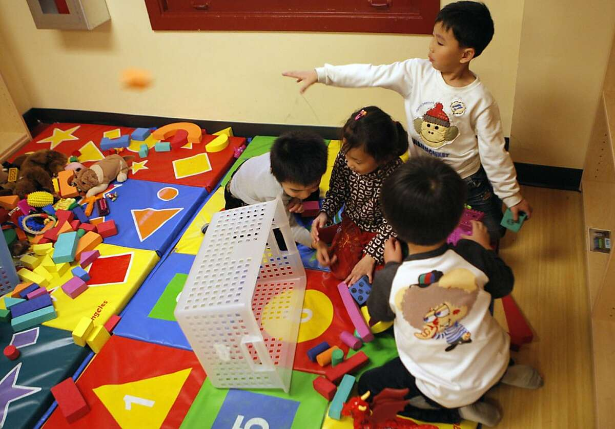 Children playing together at the YMCA in Chinatown.