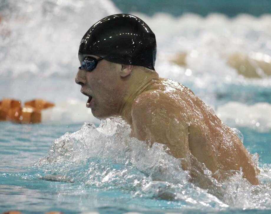 Ryan Massey of Klein Oak competes in the 200-yard individual medley. Photo: Erich Schlegel, Houston Chronicle / ©2013 Erich Schlegel