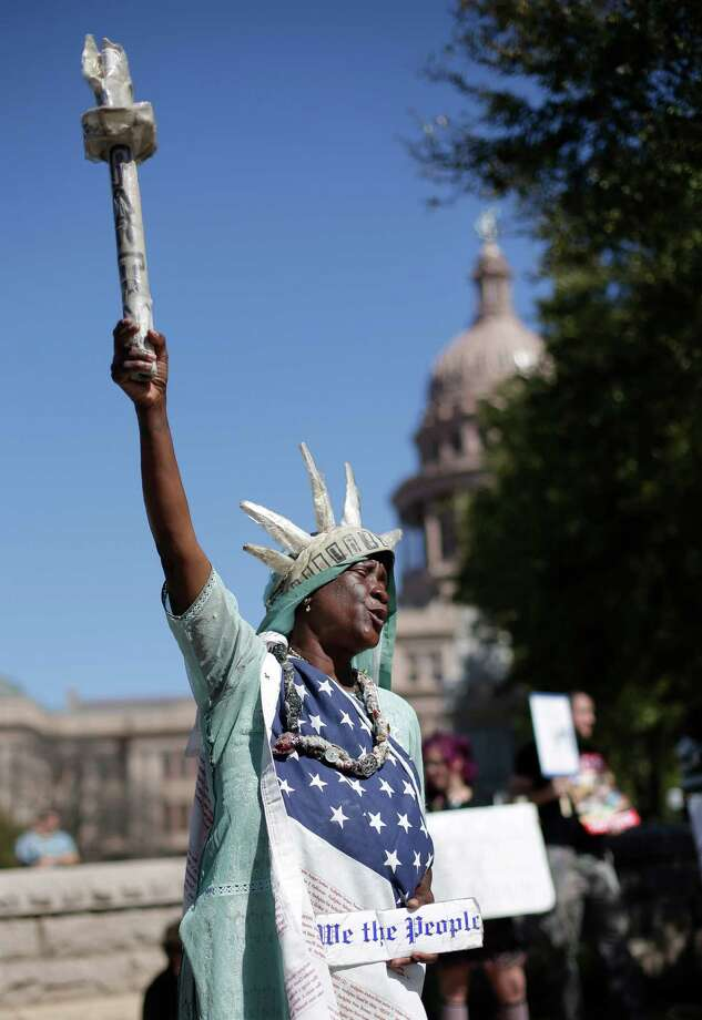 Peace Washington takes part in a rally for Texas public schools at the state Capitol, Saturday, Feb. 23, 2013, in Austin, Texas. Photo: Eric Gay, Associated Press / AP