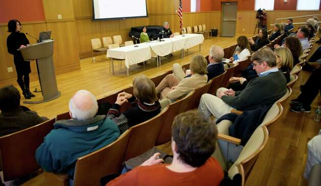 A discussion about gun violence prevention is held at the Darien Library on Saturday, February 23, 2013. Photo: Lindsay Perry / Stamford Advocate