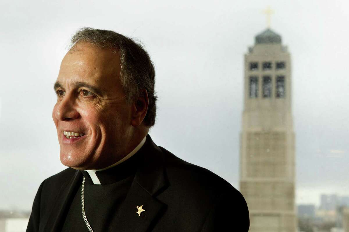 Cardinal Daniel DiNardo heads for Rome on Tuesday for the upcoming papal election. He suggested during an interview at the Archdiocese of Galveston-Houston Chancery in Houston that the next pope should be gifted linguistically.
