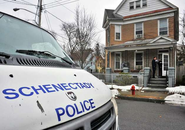 Police at 23 Mynderse St., in Schenectady Saturday Feb. 23, 2013, where an 8-year-old boy who was found unresponsive Saturday morning. The child was later pronounced dead at Ellis Hospital.  (John Carl D'Annibale / Times Union) Photo: John Carl D'Annibale / 00021293A