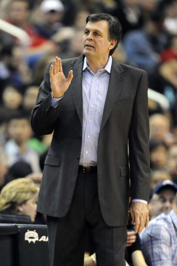 Rockets head coach Kevin McHale reacts to a play.