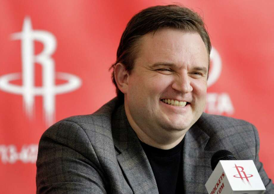 GM Daryl Morey was feeling pretty good about the Rockets' future after trading for Thomas Robinson. Photo: Melissa Phillip, Staff / © 2012 Houston Chronicle