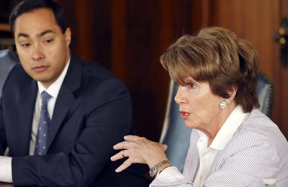 Rep. Joaquín Castro and House Minority Leader Nancy Pelosi express optimism about comprehensive immigration reform. Photo: Edward A. Ornelas / San Antonio Express-News