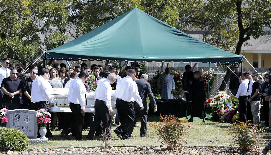 Pallbearers carry Gabriella Lerma's casket at Resurrection Cemetery. The 17-year-old Brandeis High School junior was one of two teens fatally injured in a Northwest Side crash on Tuesday. Photo: Photos By Edward A. Ornelas / San Antonio Express-News