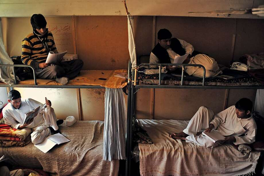 Cramped quarters: A dorm on the campus of Nangarhar University outside Jalalabad, Afghanistan, offers all the amenities of a medium-security prison. As fighting Taliban militants consumes most of the country's resources, rebuilding the educational system is not a political priority. Photo: Noorullah Shirzada, AFP/Getty Images