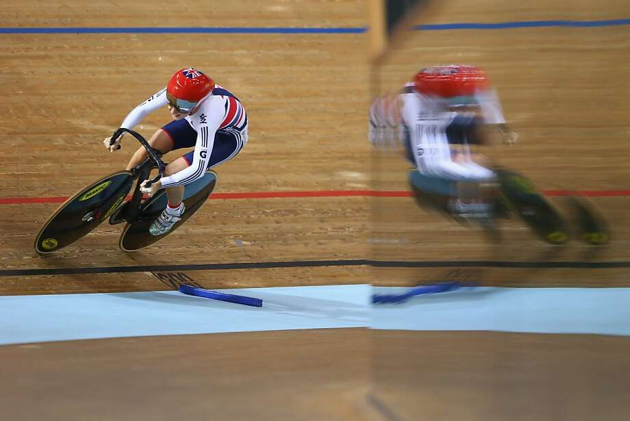 MINSK, BELARUS - FEBRUARY 23:  Laura Trott of Great Britain in action during the flying lap leg of the women's omnium race during day four of the UCI Track World Championships at Minsk Arena  on February 23, 2013 in Minsk, Belarus.  (Photo by Michael Steele/Getty Images) *** BESTPIX *** Photo: Michael Steele, Getty Images