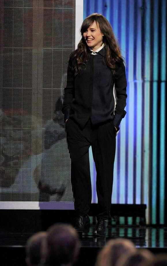 Ellen Page speaks onstage. Photo: Chris Pizzello/Invision/AP