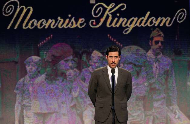 Actor Jason Schwartzman speaks onstage. Photo: Chris Pizzello/Invision/AP