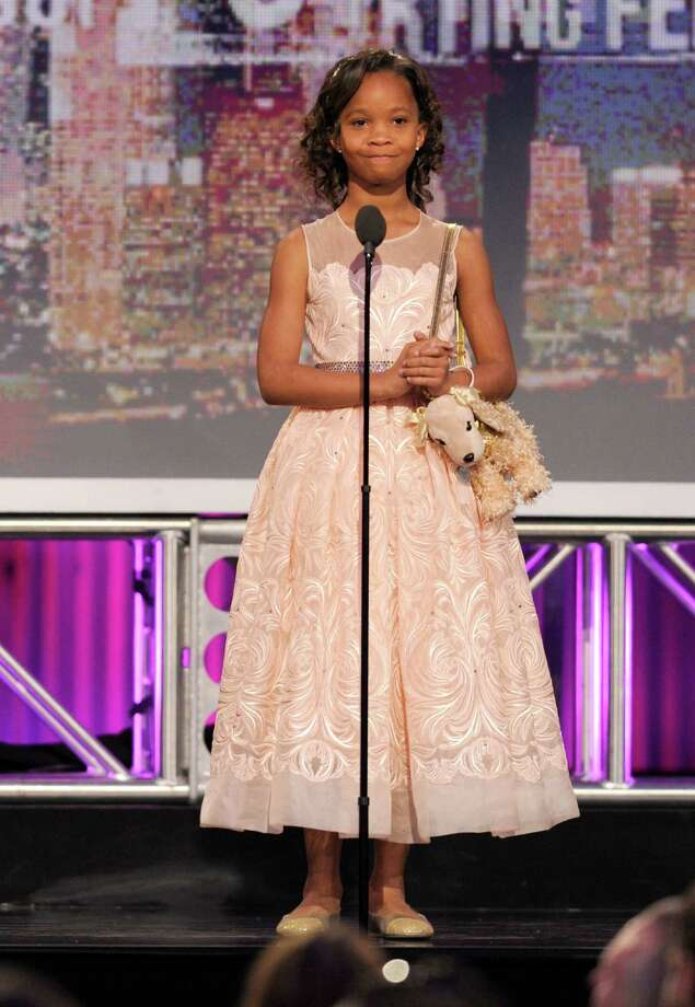 Actress Quvenzhané Wallis speaks onstage. Photo: Chris Pizzello/Invision/AP