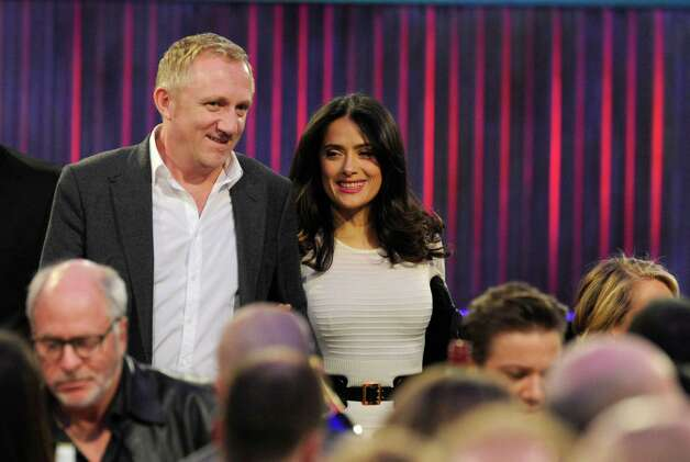 François-Henri Pinault and Salma Hayek in the audience. Photo: Chris Pizzello/Invision/AP