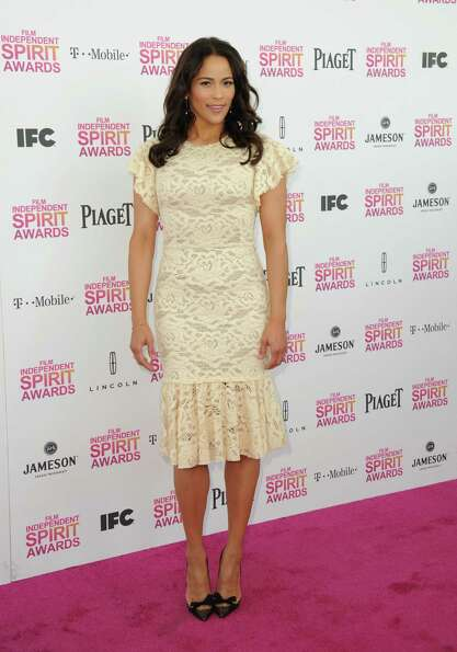 Actress Paula Patton arrives.
