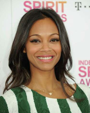 Actress Zoe Saldana arrives. Photo: Jordan Strauss/Invision/AP