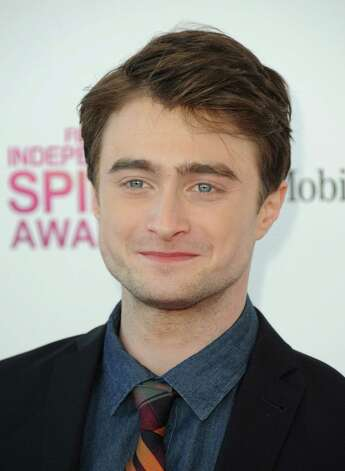 Actor Daniel Radcliffe arrives. Photo: Jordan Strauss/Invision/AP