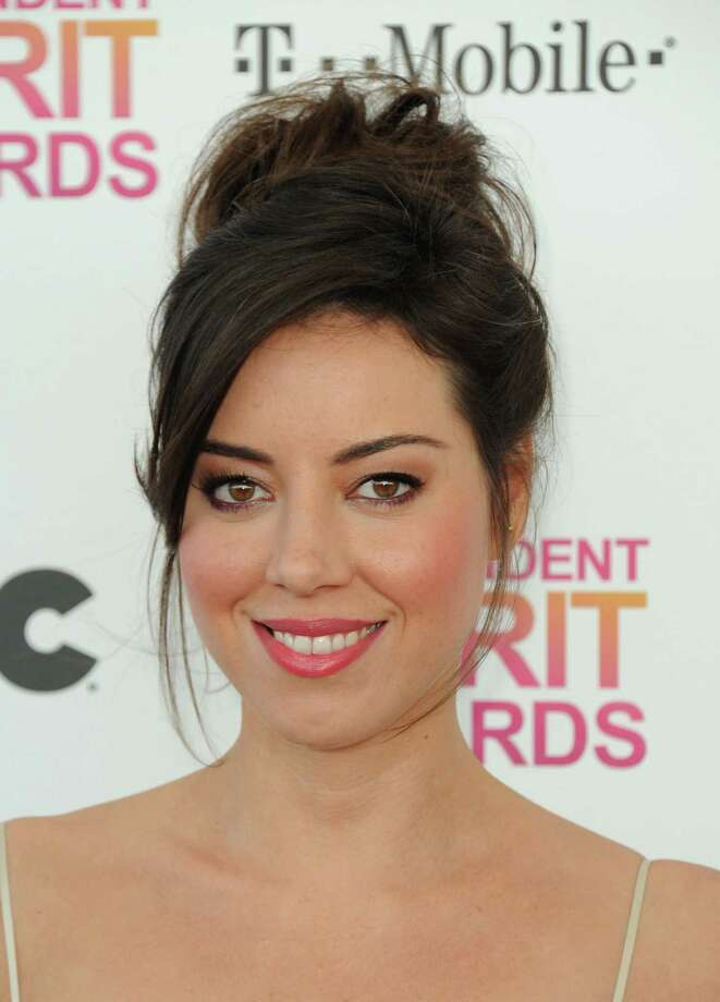 Actress Aubrey Plaza arrives. Photo: Jordan Strauss/Invision/AP