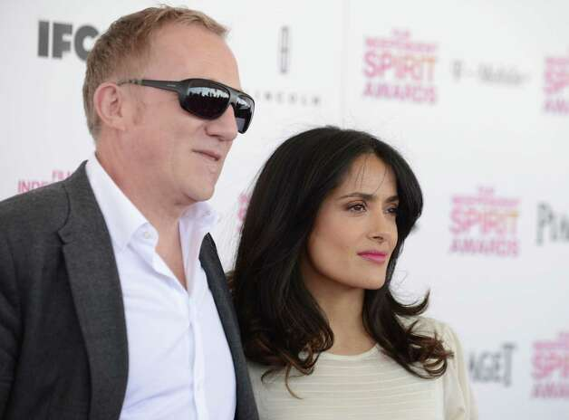 Francois-Henri Pinault, left, and actress Salma Hayek arrives. Photo: Jordan Strauss/Invision/AP