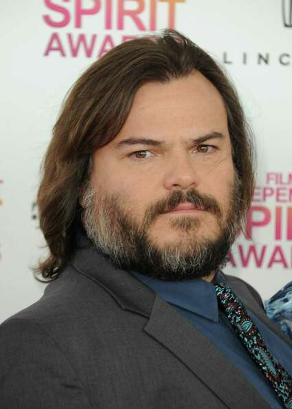 Actor Jack Black arrives.