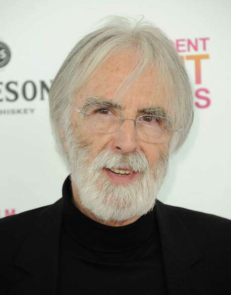 Filmmaker Michael Haneke arrives.