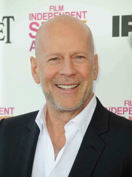 Actor Bruce Willis arrives.
