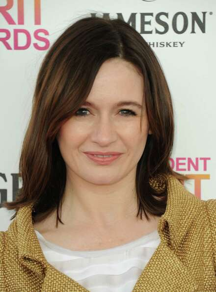 Actress Emily Mortimer arrives.