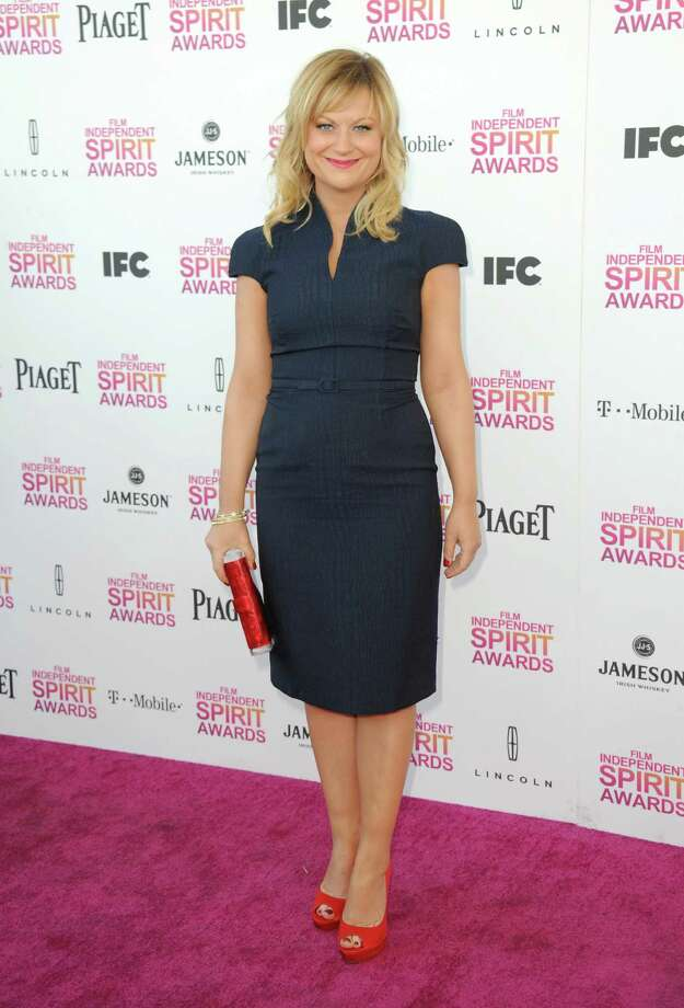 Actress Amy Poehler arrives. Photo: Jordan Strauss/Invision/AP