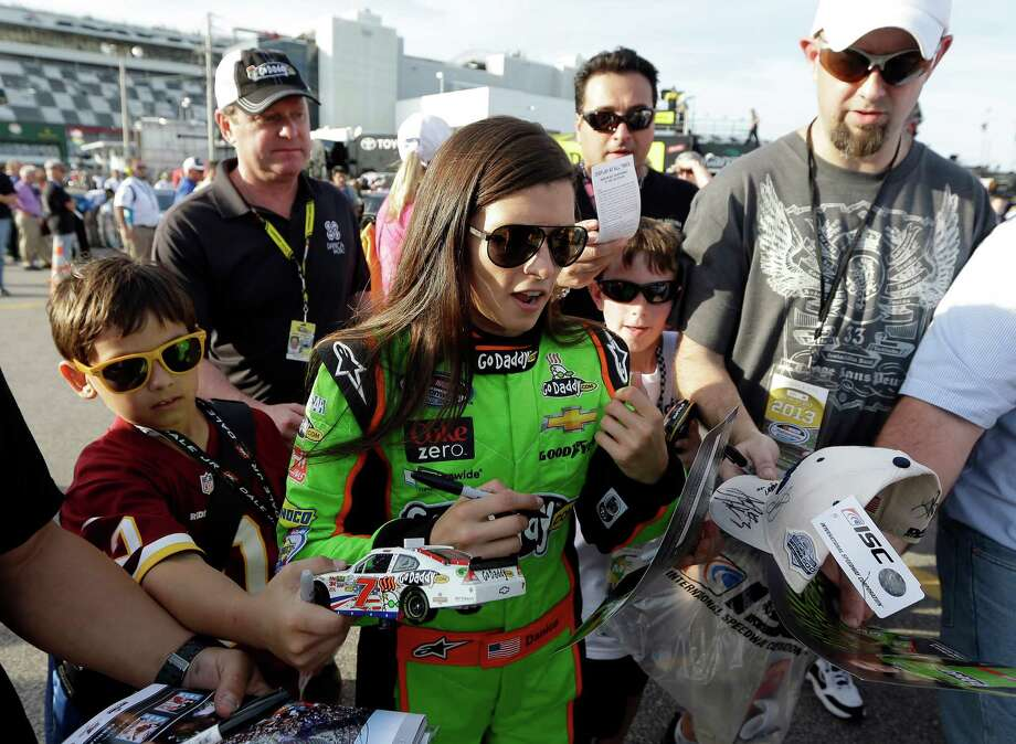 Danica Patrick has been the center of attention since becoming the first woman in history to earn the top starting spot for a race in NASCAR's Sprint Cup Series. Photo: Chris O'Meara, STF / AP