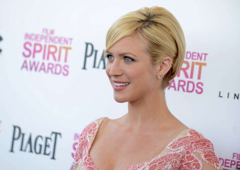 Actress Brittany Snow arrives.