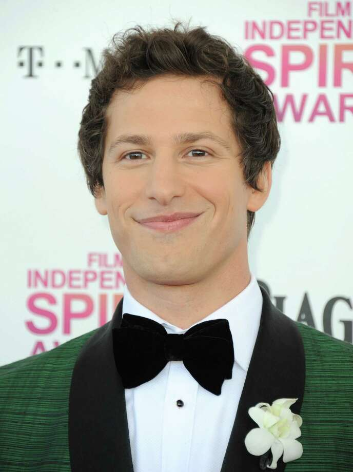 Host Andy Samberg arrives. Photo: Jordan Strauss/Invision/AP