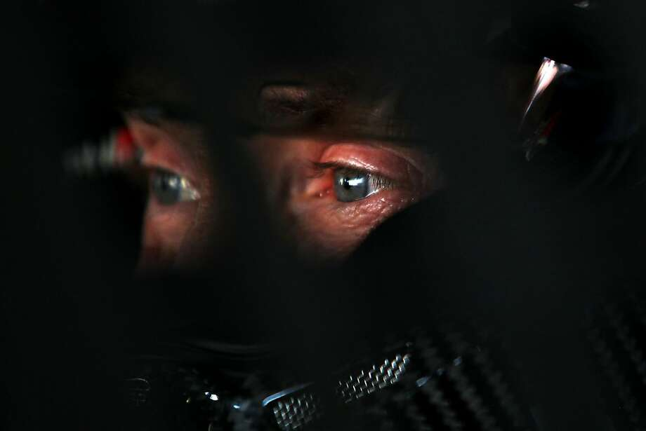 DAYTONA BEACH, FL - FEBRUARY 23:  Mark Martin, driver of the #55 Aaron's Dream Machine Toyota, looks on during practice for the NASCAR Sprint Cup Series Daytona 500 at Daytona International Speedway on February 23, 2013 in Daytona Beach, Florida.  (Photo by Todd Warshaw/Getty Images) Photo: Todd Warshaw, Getty Images