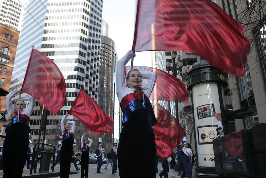 Danya Hoban of Yurba Linda High School practices her routine before participating in the Chinese New Year Parade on Saturday, Feb. 23. Photo: James Tensuan, The Chronicle