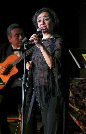 Singer Leticia Rodriguez performs as the life of Eva Garza is remembered at the Esparanza Center on February 23, 2013. Photo: TOM REEL, San Antonio Express-News / San Antonio Express-News
