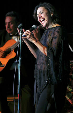 Singer Leticia Rodriguez performs as the life of Eva Garza is remembered at the Esparanza Center on February 23, 2013. Photo: TOM REEL
