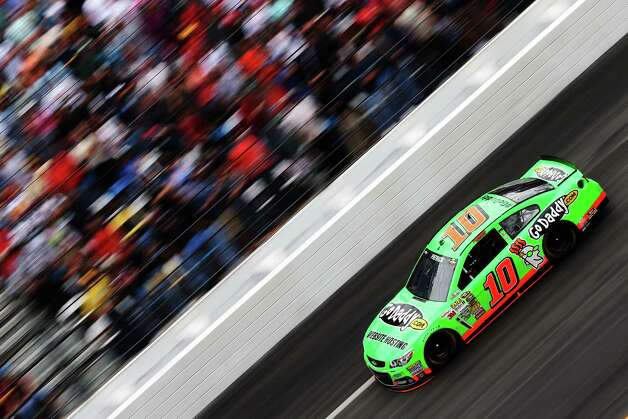 Danica Patrick drives the #10 GoDaddy.com Chevrolet during the NASCAR Sprint Cup Series Daytona 500. Photo: Matthew Stockman, Getty Images / 2013 Getty Images